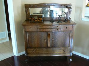 oak buffet