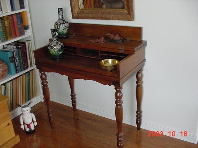 After – Spinet Desk - Spinet Desk (Before & After) - Gentle Hands Restoration Gentle