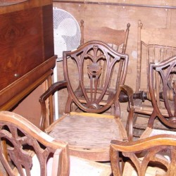 sheild back chairs before refinishing